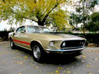 1969 Ford Mustang R Code 1 of 1 Mach 1Freshly restored