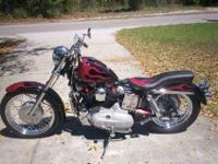69 Sportster XLH. Stock: Frame, forks, brakes, and