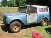 1969 International Scout all wheel drive.4X4, 4cly 3