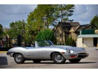 This 1969 Jaguar E-Type Convertible . It is equipped