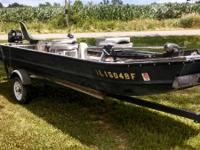 1969 16' (58 inch top, 38 inch bottom) Jon Boat with