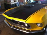 1969 Ford Mustang Mach 1 428SCJ, Drag Pack, 3:91