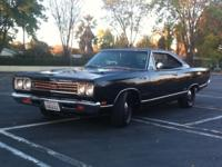 1969 Plymouth GTX Triple Black Matching Engine and