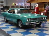 1969 Plymouth Road Runner. Correct Ivory Green