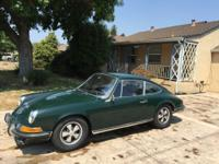 1969 Porsche 911E 2.0L Coupe Irish Green. This Coupe Is