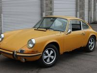 1969 Porsche 911S coupe rusted restoration prospect.