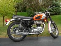 Stock 1969 Triumph Bonneville. 10,900 miles believed to