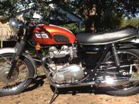 For your consideration is my 1969 Triumph T120R