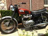 fully brought back 1969 Triumph Bonneville T120R 650 cc