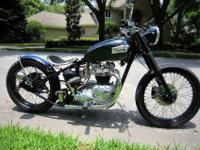 1969 Triumph 650 bobber. This bike has a fresh top end