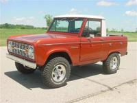 1969 Bronco with half cab. Excellent restoration on an