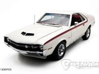 1970 AMC AMX in white with red stripes over OEM red