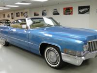 This 1970 Cadillac DEVILLE 2dr coupe Convertible