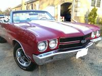 For Sale is a 1970 Chevelle SS 454 Convertible. Vehicle