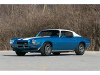 This 1970 Chevrolet Camaro Z28 for sale has a 350 C.I.