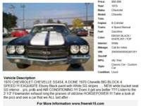 1970 Chevrolet Chevelle , Call for mileage