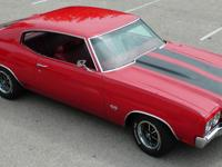 1970 Chevelle SS LS6 454, 450 horsepower. Cranberry red