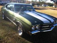 1970 Chevrolet Chevelle SS In 1970 Chevrolet introduced