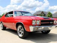 1970 Chevrolet Chevelle SS  Beautiful Red Paint with