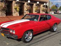 1970 Chevrolet Chevelle SS Red RWD. Ground up retro mod