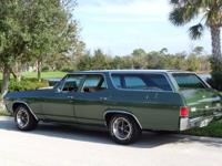 1970 CHEVELLE SS WAGON- RUST FREE LASER STRAIGHT BODY