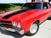 1970 Chevrolet Chevelle, Red with very nice Black