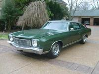 1970 CHEVROLET MONTE CARLO SS. THIS A RARE FIND. IT HAS
