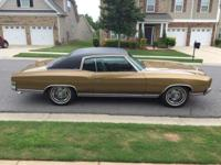 Rare first year 1970 Chevy Monte Carlo. It has gold