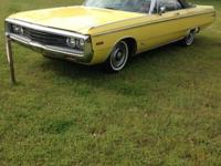 PRICE REDUCED $3,500! 1970 Chrysler Newport convertible