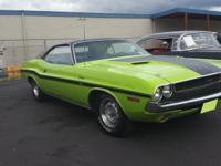 1970 Dodge Challenger Green RT/SE 440 Magnum. Only