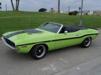 1970 Dodge Challenger R/T Convertible 4 Speed manual
