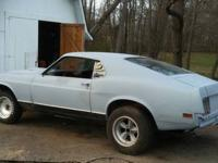 1970 ford mustang fastback body with Mach 1 trim and