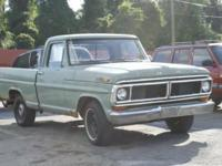 I am selling my 1970 Ford F100 pickup truck. 1 owner,