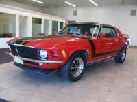 This is a beautiful RED 1970 FORD MUSTANG COUPE