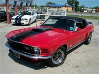 TRAFFIC STOPPING BRIGHT RED 1970 MUSTANG CONVERTIBLE,