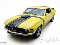 1970 Ford Boss 302 finished in Competition yellow and
