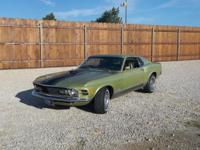 1970 FORD MUSTANG MACH 1 Medium Lime paint code, deluxe