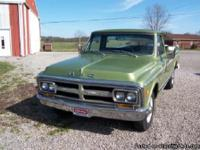 Make:  GMC Year:  1970 Exterior Color: Green