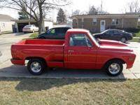 This pickup has been restored. The truck runs and