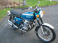 This 1970 CB750 in Candy Blue Green is undoubtedly one