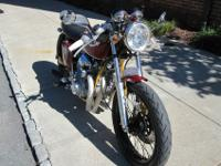 bike is 1970 honda cb750 Candy Ruby Red.Frame has been