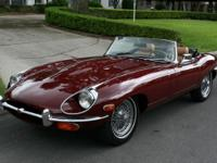 This lovely Jaguar XKE Roadster is one of the nicest