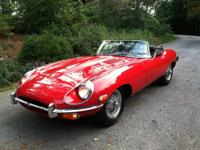 An absolutely gorgeous example of a Jaguar XKE.