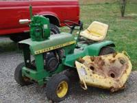 1970 John Deere 110 lawn tractor. Comes with new