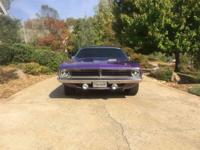 Its an original Cuda 383 4 big block car not a