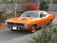 Original 1970 cuda 340, 4 speed. EK2 Vitamin C orange.