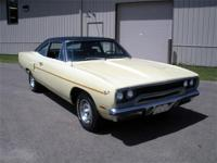 1970 Plymouth Road Runner 2 door. Butternut yellow with