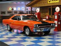 1970 Plymouth Roadrunner painted in Vitamin C Orange