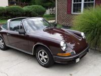 1970 Porsche 911 Burgundy 1970 Porsche 911 targa with