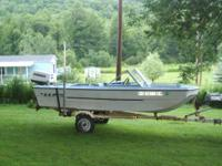 1970's 14'MFG Tri Haul with a 1973 Johnson 40hp And a